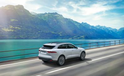 Car, Jaguar F-Pace, motion blur
