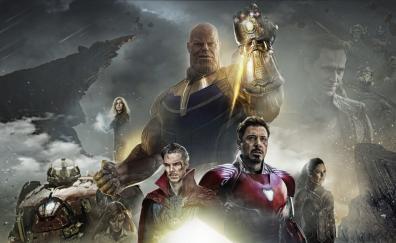 Avengers infinity war 2018 poster fanart