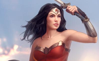 Warrior wonder woman fan art