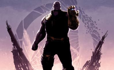 Super villain thanos avengers infinity war poster