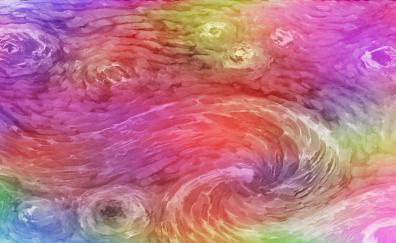 Swirl, colorful, digital art, abstract