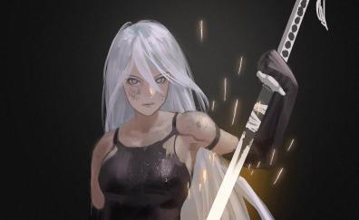 Nier automata a2 artwork warrior