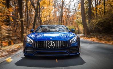 Mercedes amg gt c roadster sports car 2018 4k
