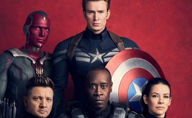 Avengers infinity war captain america hawk vision