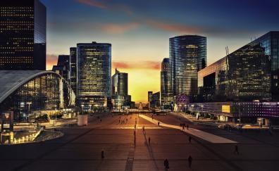 Arc de triomphe paris city night 4k