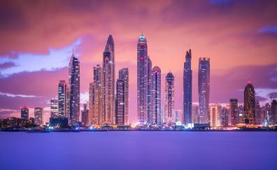 Buildings cityscape city lights