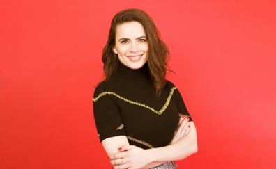 Hayley Atwell, red head, smile