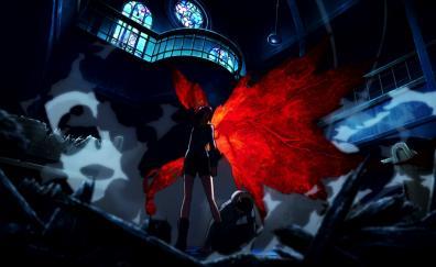 Ken Kaneki, Touka Kirishima, Tokyo Ghoul, dark, anime