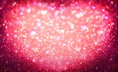 Hearts glitters abstract
