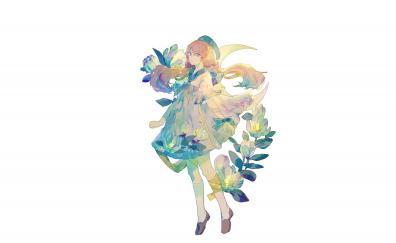 Minimal artwork cute anime girl