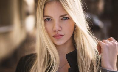 Blonde face girl model