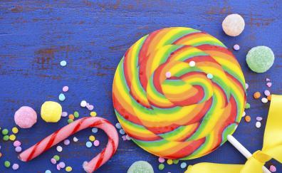 Lollipop candies colorful