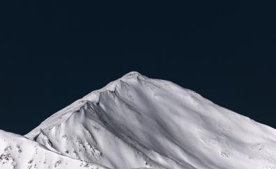 Glacier, mountain, snow, sunny day