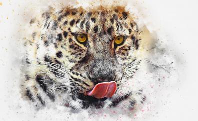 Leopard muzzle art