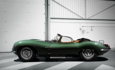 Jaguar xkss classic green car