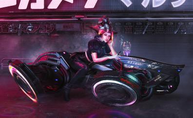 Superbike anime girl