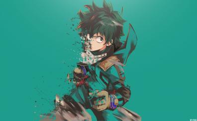 Izuku Midoriya, Boku No Hero Academia, Minimal, Anime Boy