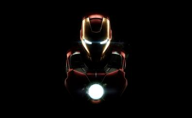 Iron man, dark, armor, mark vii