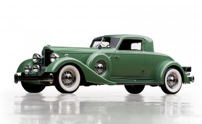 Green packard twelve classic car