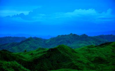 Blue sky mountains nature