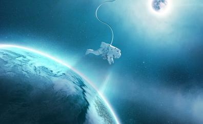 Astronaut earth gravity planets 4k