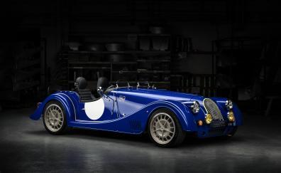 Morgan plus 8 50th anniversary blue classic car
