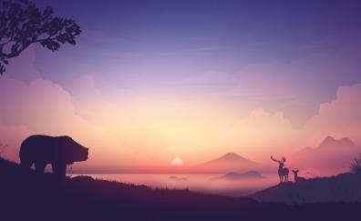 Sunrise digital art 4k