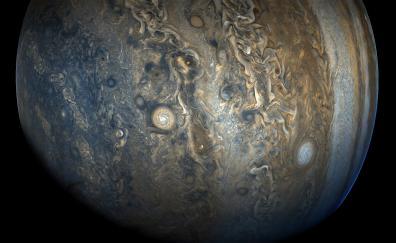 Jupiter southern hemisphere juno spacecraft nasa 4k