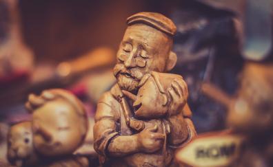 Sculpture, figure, love, hug