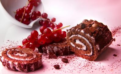 Red fruits berries cake