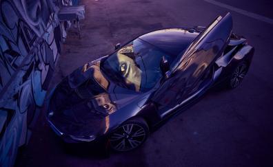 Bmw luxury car top view