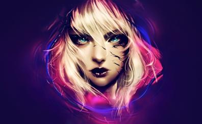 Woman face fantasy art