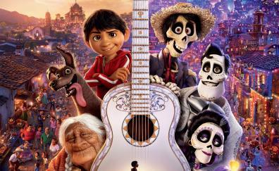 Coco, keyart, violin, movie, poster
