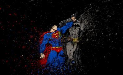 Batman vs superman, ruggon style, art