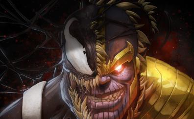 Artwork marvel thanos venom