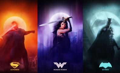 Justice league superman wonder woman batman 8k