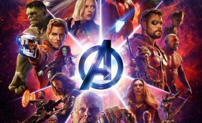 Avengers: Infinity war, superheroes, marvel, movie, poster, 2018