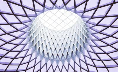 Modern architecture skylight roof geometric pattern