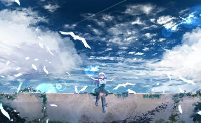 Beautiful scenery anime outdoor anime girl