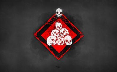 Skulls video game art dead by daylight