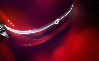 Volkswagen id vizzion headlight 2018 4k