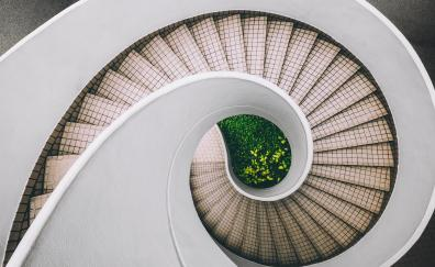 Staircase spiral stairway 4k
