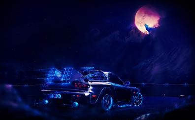 Madza rx7 back to the future movie art