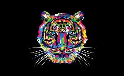 Tiger muzzle artwork