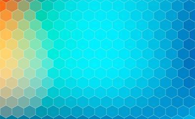 Background, gradient, hexagons, abstract