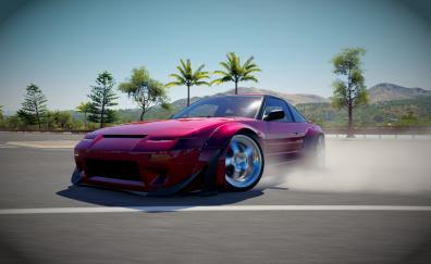 Drift video game forza horizon 3 nissan