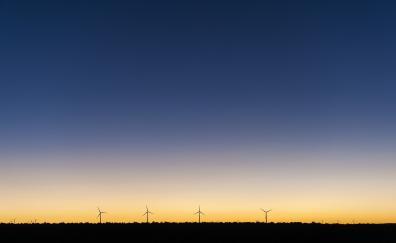 Sunset windmills 5k