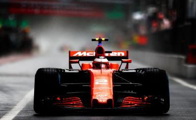 Mclaren formula one car front