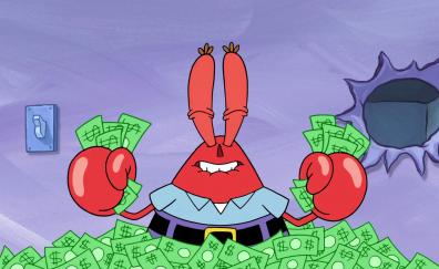 Mr krabs cartoon money
