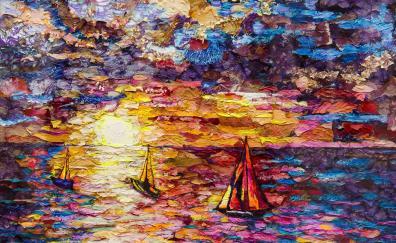 Sea colorful artwork texture